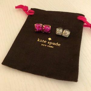 Kate Spade set of two glitter earrings